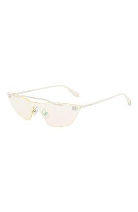 Мужские солнцезащитные очки OFF-WHITE белого цвета, арт. 0WRI018S20MET0010100 | Фото 1