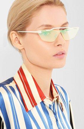 Мужские солнцезащитные очки OFF-WHITE белого цвета, арт. 0WRI018S20MET0010100 | Фото 2
