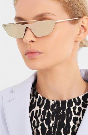 Мужские солнцезащитные очки OFF-WHITE золотого цвета, арт. 0WRI018S20MET0017600 | Фото 2