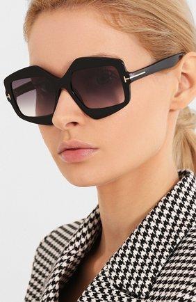 Мужские солнцезащитные очки TOM FORD черного цвета, арт. TF789 | Фото 2