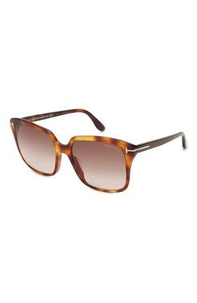 Женские солнцезащитные очки TOM FORD светло-коричневого цвета, арт. TF788   Фото 1