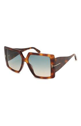 Мужские солнцезащитные очки TOM FORD светло-коричневого цвета, арт. TF790 | Фото 1
