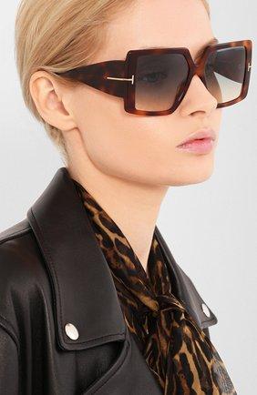Мужские солнцезащитные очки TOM FORD светло-коричневого цвета, арт. TF790 | Фото 2