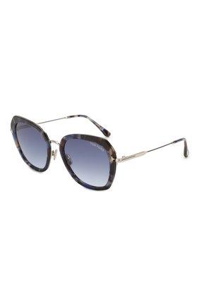 Мужские солнцезащитные очки TOM FORD голубого цвета, арт. TF792 | Фото 1