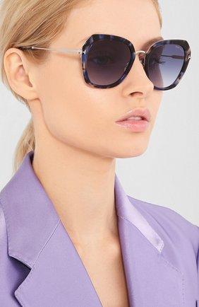 Мужские солнцезащитные очки TOM FORD голубого цвета, арт. TF792 | Фото 2