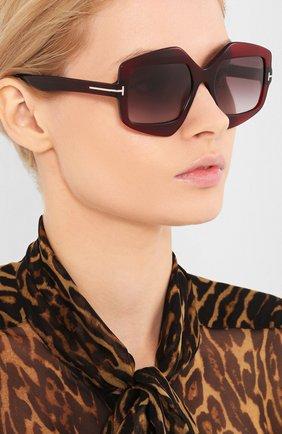 Мужские солнцезащитные очки TOM FORD красного цвета, арт. TF789 | Фото 2