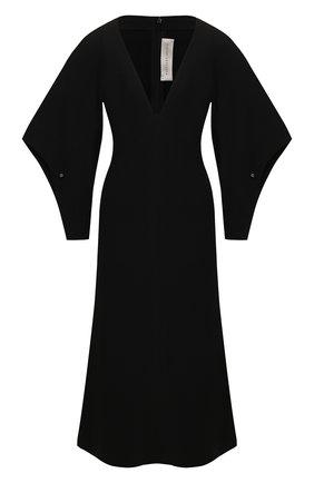 Женское платье-миди VICTORIA BECKHAM черного цвета, арт. 1120WDR000825A | Фото 1