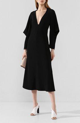 Женское платье-миди VICTORIA BECKHAM черного цвета, арт. 1120WDR000825A | Фото 2