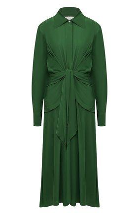 Женское шелковое платье VICTORIA BECKHAM зеленого цвета, арт. 1120WDR000582A | Фото 1