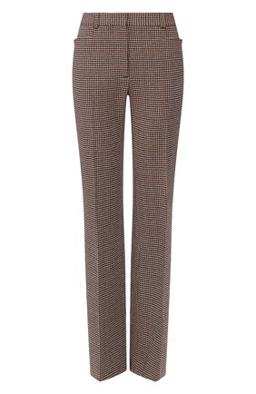 Женские брюки из смеси вискозы и шерсти VICTORIA BECKHAM черного цвета, арт. 1220WTR001175A | Фото 1