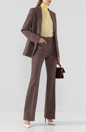 Женские брюки из смеси вискозы и шерсти VICTORIA BECKHAM черного цвета, арт. 1220WTR001175A | Фото 2
