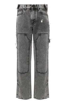 Мужские джинсы OFF-WHITE серого цвета, арт. 0MYA043T20DEN0010801 | Фото 1