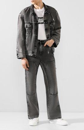 Мужские джинсы OFF-WHITE серого цвета, арт. 0MYA043T20DEN0010801 | Фото 2