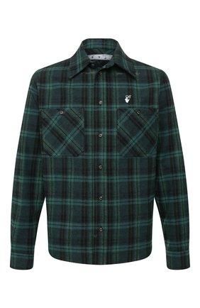 Мужская рубашка OFF-WHITE зеленого цвета, арт. 0MGA098T20FAB0011055 | Фото 1