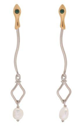Женские серьги callie CHLOÉ золотого цвета, арт. CHC20SFE40SNB | Фото 1