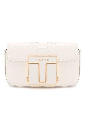 Женская сумка из кожи питона TOM FORD белого цвета, арт. S0337E-EPY005/PBIV | Фото 1