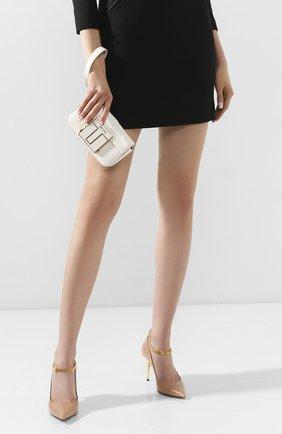 Женская сумка из кожи питона TOM FORD белого цвета, арт. S0337E-EPY005/PBIV | Фото 2