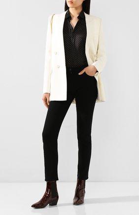 Женские кожаные ботинки west SAINT LAURENT леопардового цвета, арт. 606602/1QX00 | Фото 2