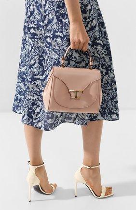 Женская сумка t singola TOD'S светло-розового цвета, арт. XBWTSIJ0100R0R | Фото 2