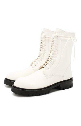 Женские кожаные ботинки ANN DEMEULEMEESTER белого цвета, арт. 2013-2826-W-356-001   Фото 1