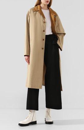 Женские кожаные ботинки ANN DEMEULEMEESTER белого цвета, арт. 2013-2826-W-356-001   Фото 2