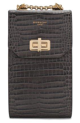Кожаный чехол для iphone catena GIVENCHY серого цвета, арт. BB60AUB0LK | Фото 1