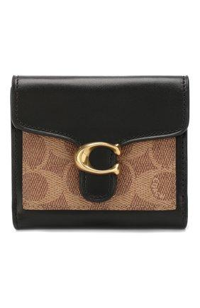 Женские кожаный кошелек COACH черного цвета, арт. 85994 | Фото 1