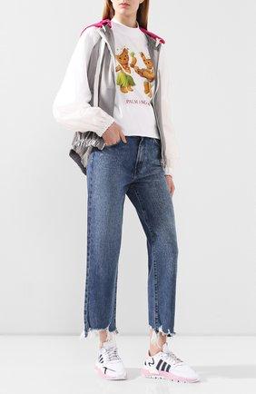 Женские комбинированные кроссовки nite jogger ADIDAS ORIGINALS белого цвета, арт. EG7942 | Фото 2
