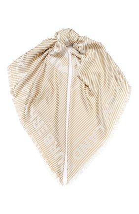 Женская шаль из смеси шелка и шерсти BURBERRY бежевого цвета, арт. 8029144 | Фото 1