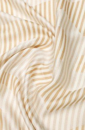 Женская шаль из смеси шелка и шерсти BURBERRY бежевого цвета, арт. 8029144 | Фото 2