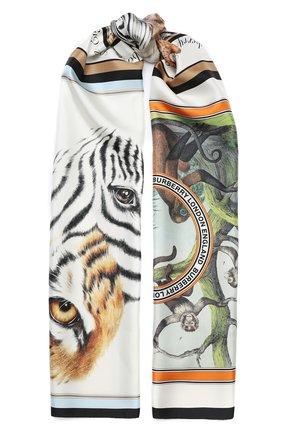 Мужские шелковый шарф BURBERRY разноцветного цвета, арт. 8028894 | Фото 1
