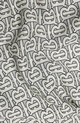 Мужские кашемировый шарф BURBERRY серого цвета, арт. 8027220 | Фото 2