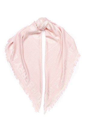 Женская шаль из смеси шелка и шерсти BURBERRY розового цвета, арт. 8026935 | Фото 1