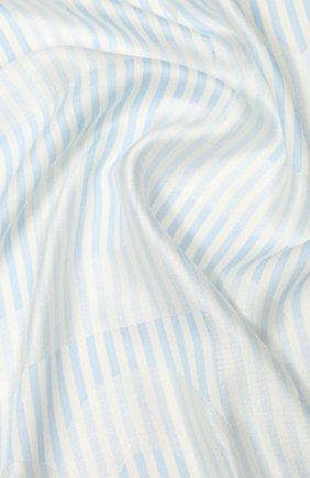 Женская шаль из смеси шелка и шерсти BURBERRY голубого цвета, арт. 8026934 | Фото 2