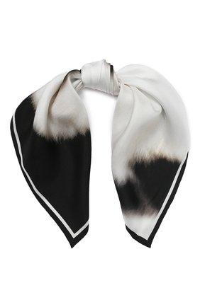 Женский шелковый платок BURBERRY белого цвета, арт. 8029395 | Фото 1