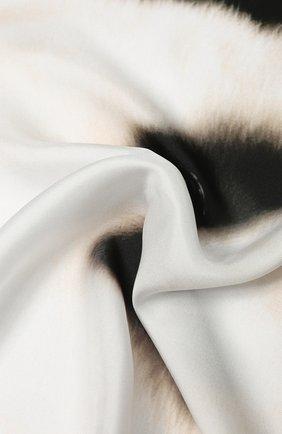 Женский шелковый платок BURBERRY белого цвета, арт. 8029395 | Фото 2