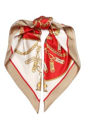 Женский шелковый платок BURBERRY красного цвета, арт. 8029394 | Фото 1