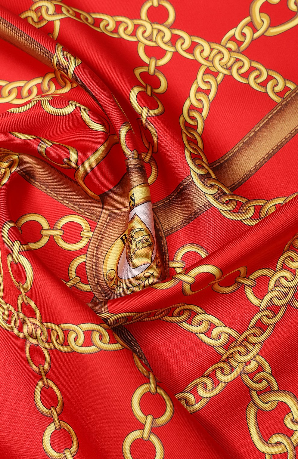 Женский шелковый платок BURBERRY красного цвета, арт. 8029394 | Фото 2