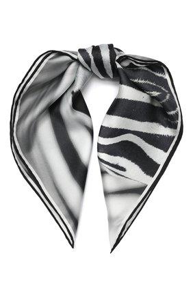 Женский шелковый платок BURBERRY серого цвета, арт. 8029004 | Фото 1