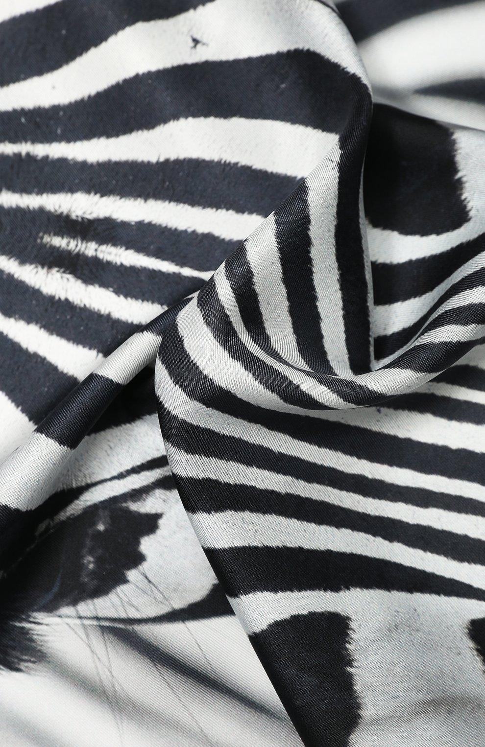 Женский шелковый платок BURBERRY серого цвета, арт. 8029004 | Фото 2 (Материал: Текстиль, Шелк)