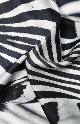 Женский шелковый платок BURBERRY серого цвета, арт. 8029004 | Фото 2