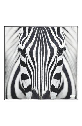 Женский шелковый платок BURBERRY серого цвета, арт. 8029004 | Фото 3 (Материал: Текстиль, Шелк)