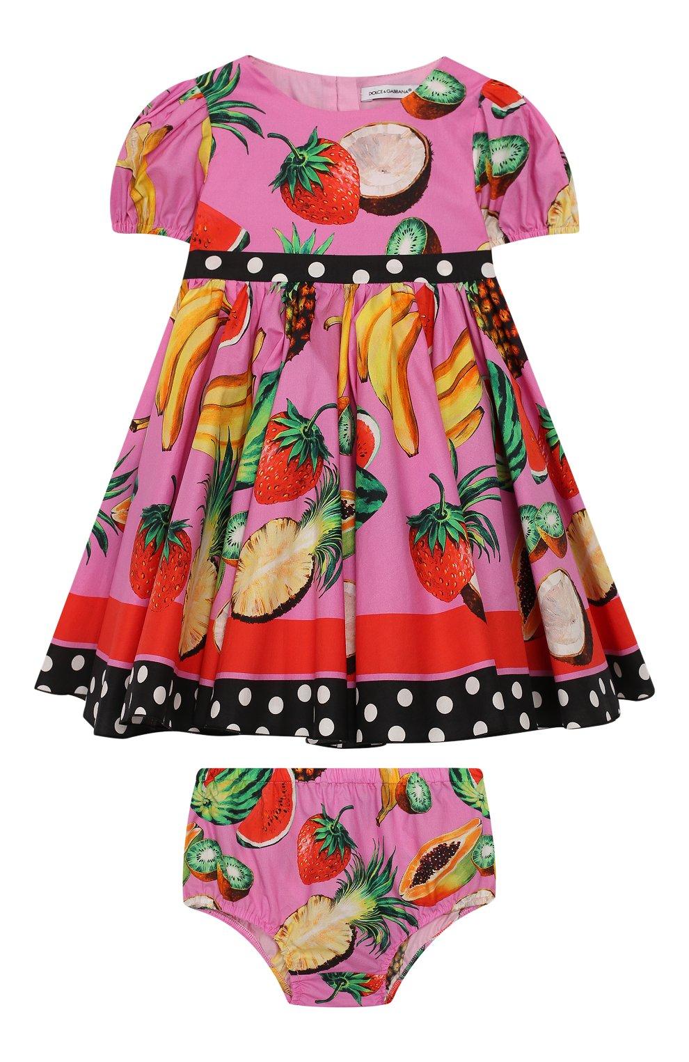 Женский комплект из платья и шорт DOLCE & GABBANA фуксия цвета, арт. L22DI3/G7WRH | Фото 1