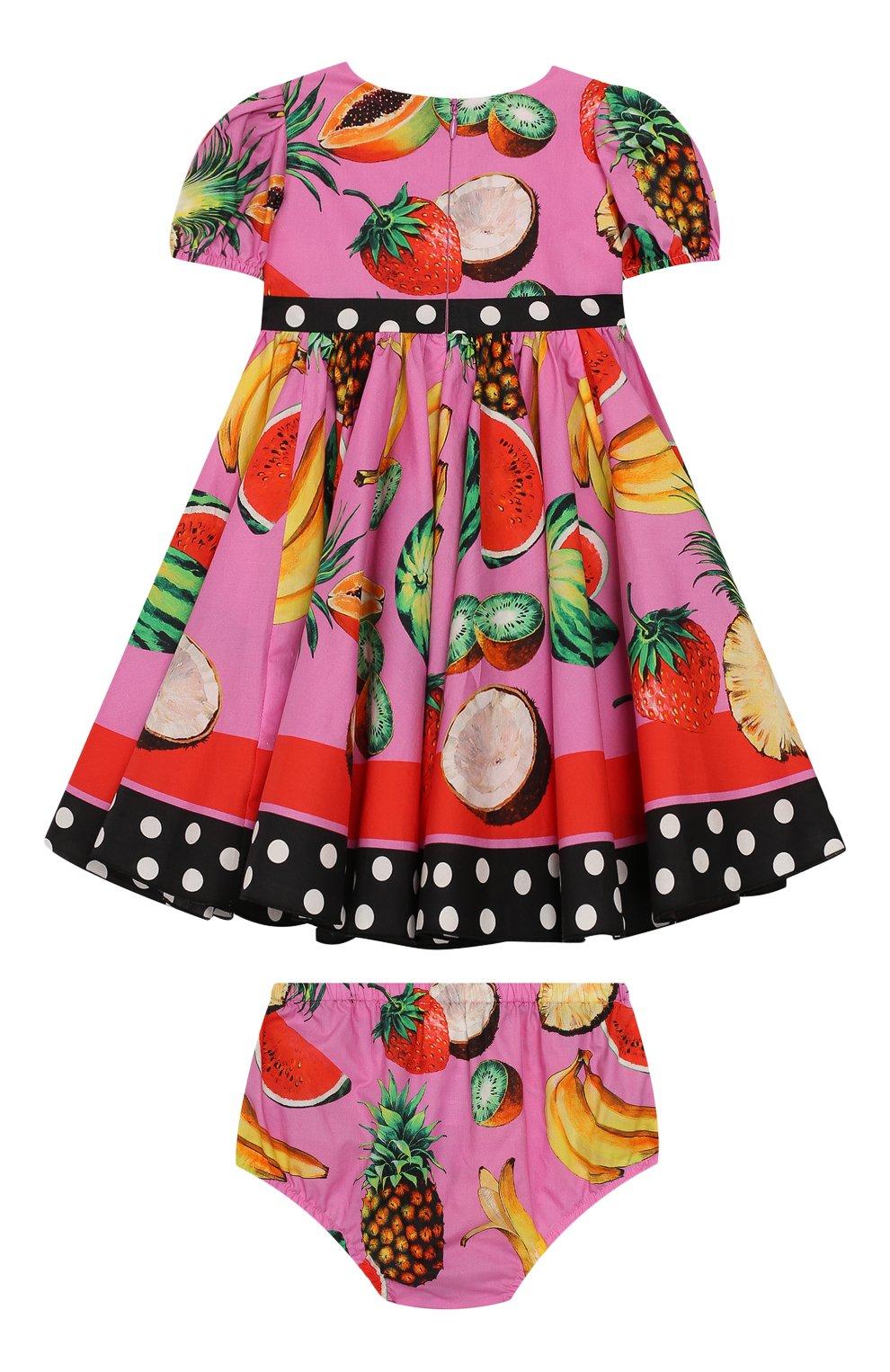 Женский комплект из платья и шорт DOLCE & GABBANA фуксия цвета, арт. L22DI3/G7WRH | Фото 2