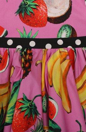 Женский комплект из платья и шорт DOLCE & GABBANA фуксия цвета, арт. L22DI3/G7WRH | Фото 3