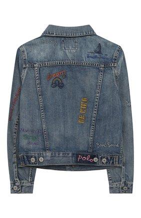 Детская джинсовая куртка POLO RALPH LAUREN голубого цвета, арт. 313783770 | Фото 2