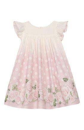 Женский хлопковое платье MONNALISA розового цвета, арт. 315909 | Фото 1