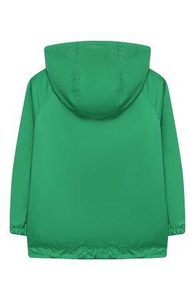 Детского двусторонняя куртка FENDI зеленого цвета, арт. JUA080/AAC1/8A-12+ | Фото 2