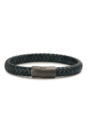 Мужской кожаный браслет TATEOSSIAN синего цвета, арт. BR0777 | Фото 1