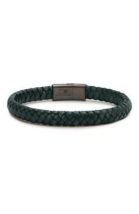 Мужской кожаный браслет TATEOSSIAN синего цвета, арт. BR0777 | Фото 2